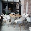 Vierfussstuhl, Wilkhahn, Occo, Kunststoffschale, Stuhl, Cafeteria, Lounge, Holzfüsse, Objektstuhl, Besucherstuhl, Warten, Sitz, Hocker