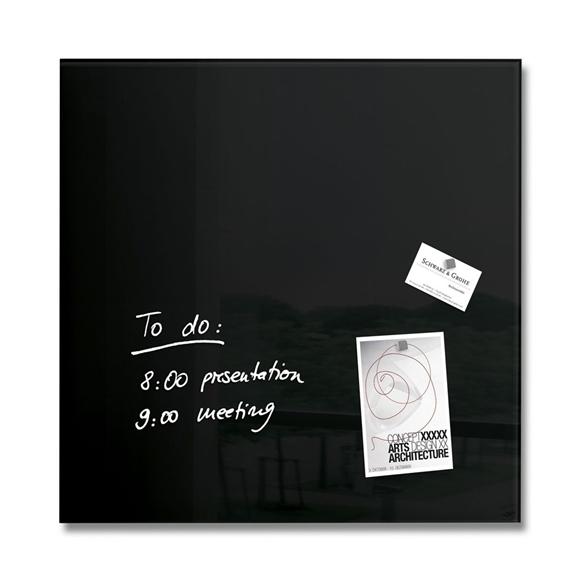 SIGEL, Glas-Magnetboard artverum, schwarz 48x48cm
